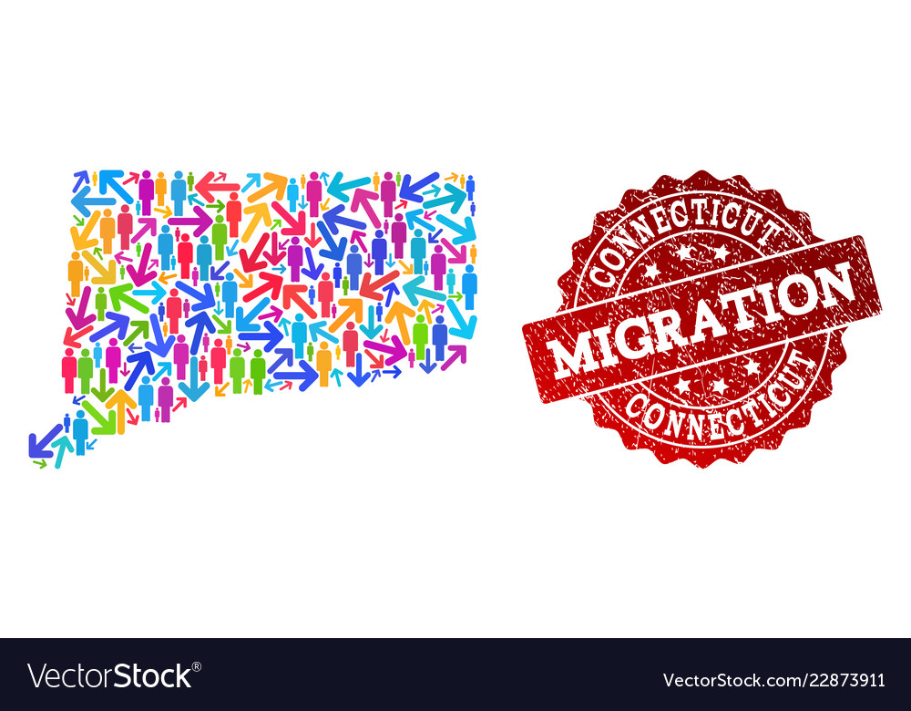 Migration Composition Of Mosaic Map Of Connecticut