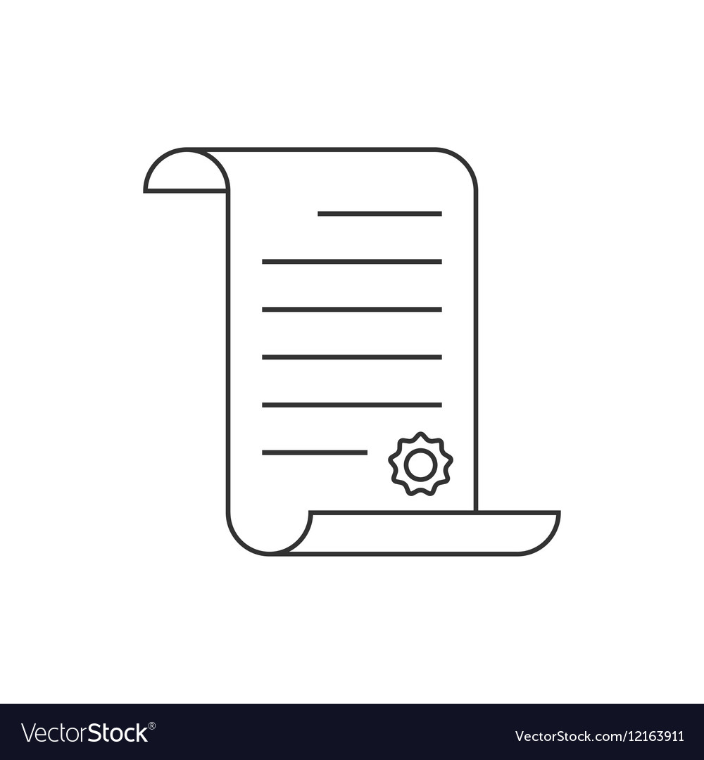 Paper scroll line icon