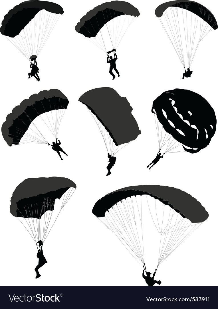 Parachutes vector image