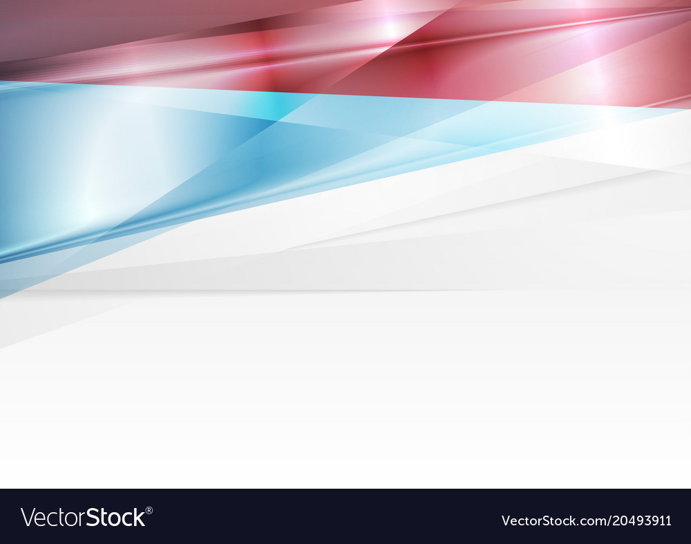 Red And Blue Abstract Glossy Modern Background