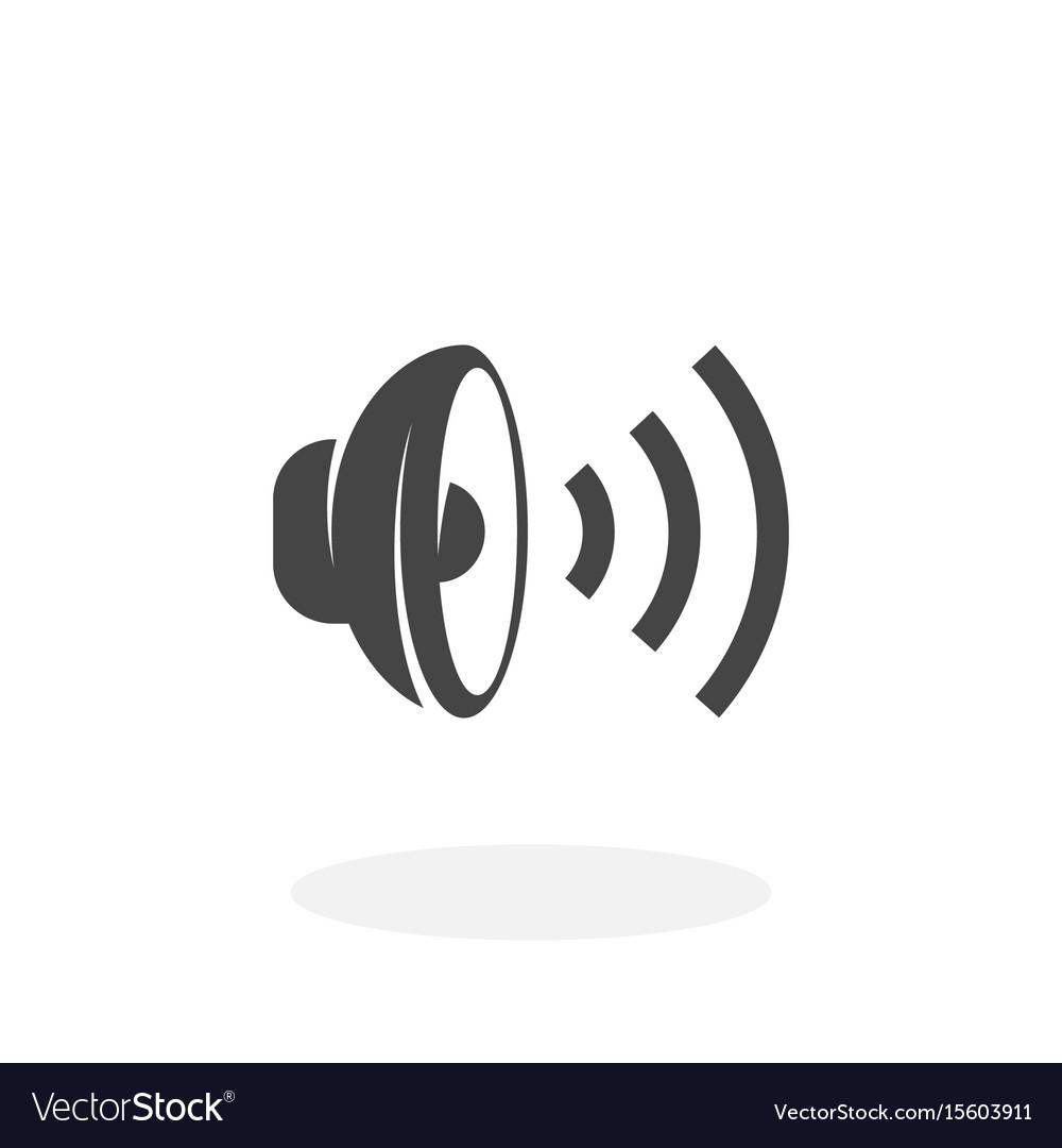 Speaker icon logo on white background
