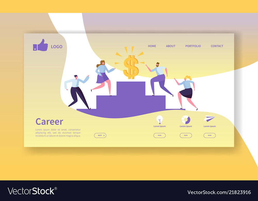 Business career landing page template website vector image fbccfo Gallery