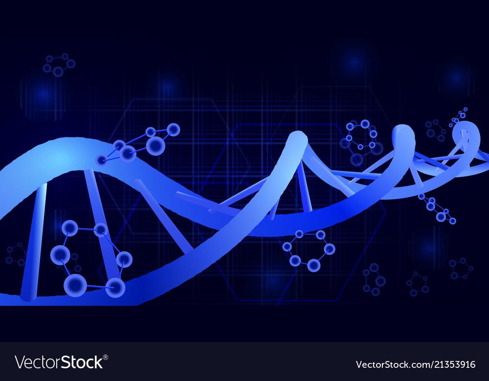 Dna helix 3d science education genetics