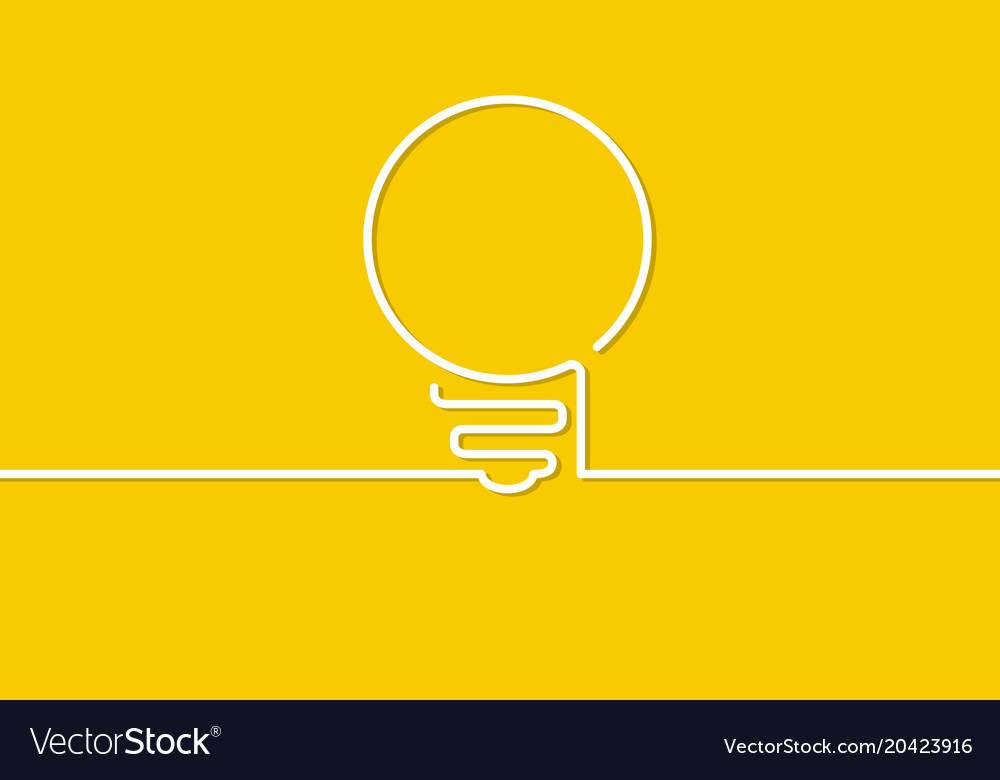 Light bulb sign vector image