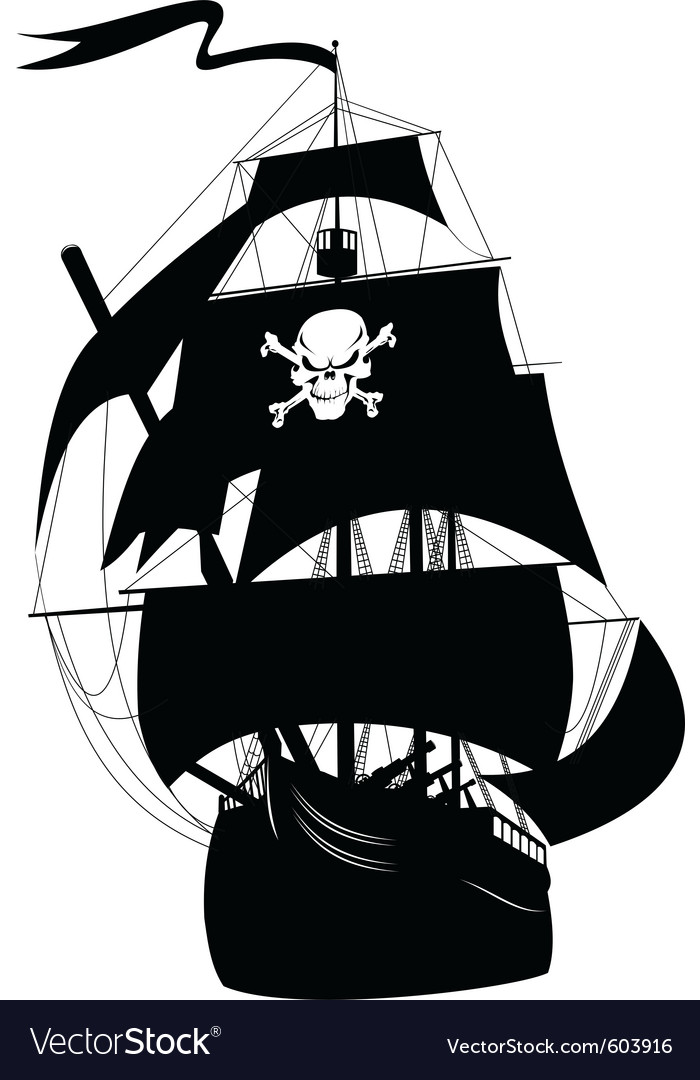 pirate ship royalty free vector image vectorstock rh vectorstock com pirate ship vectorial pirate ship vector image