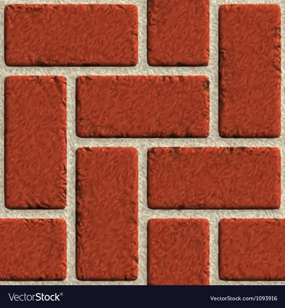 Seamless Brick Wall Made Of Red Bricks Vector Image