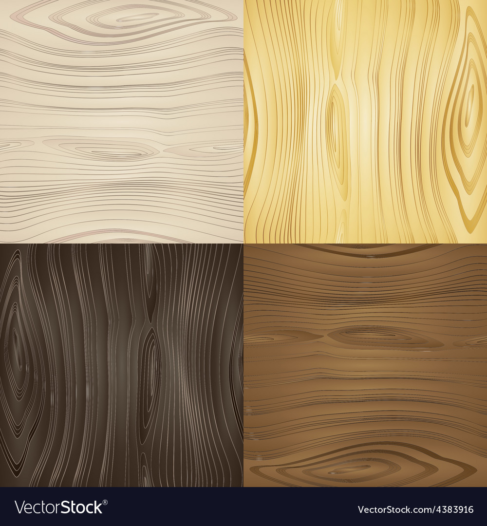 Set of seamless wood textures Royalty Free Vector Image