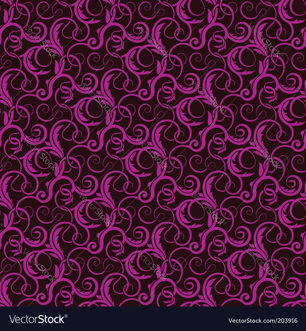 Violet seamless wallpaper pattern vector image