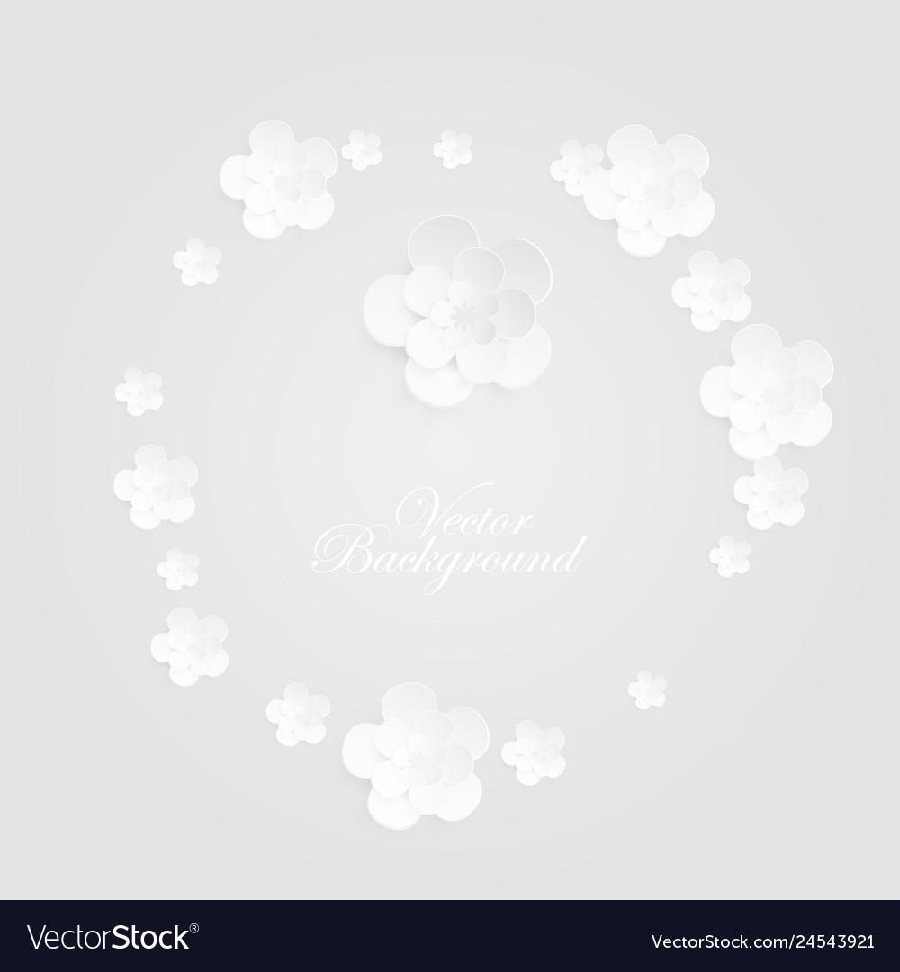 Background with decorative white round