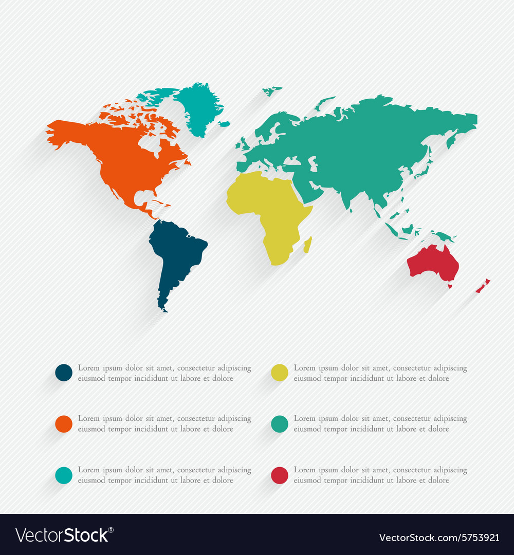Detail infographic World Map and Informatio