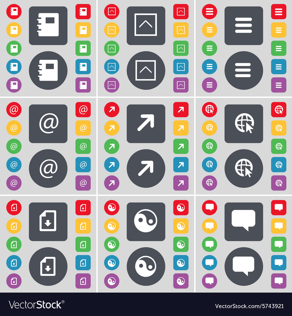 Notebook Arrow up Apps Mail Full screen Web cursor