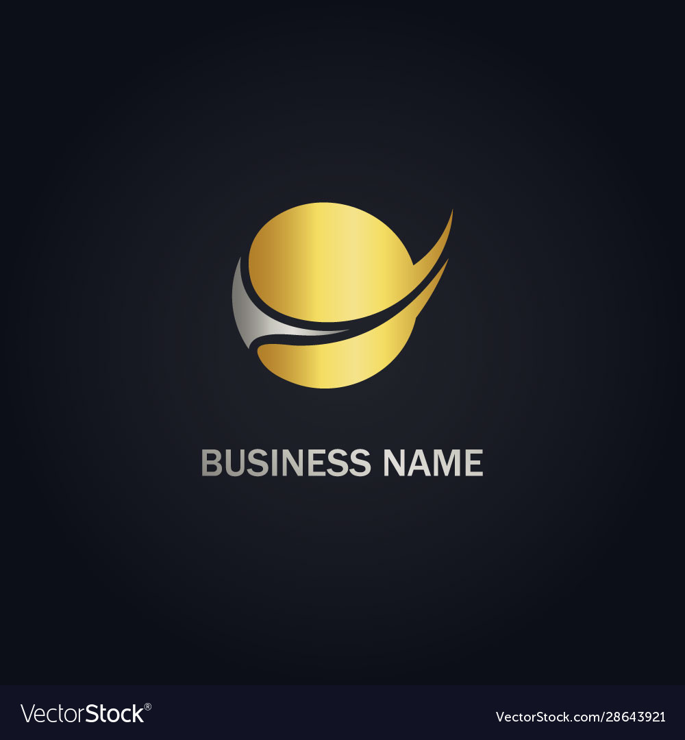 Round sphere abstract gold logo