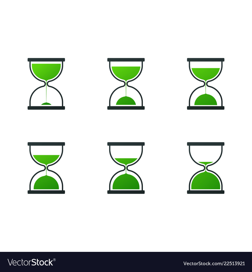 Set of hourglass icons