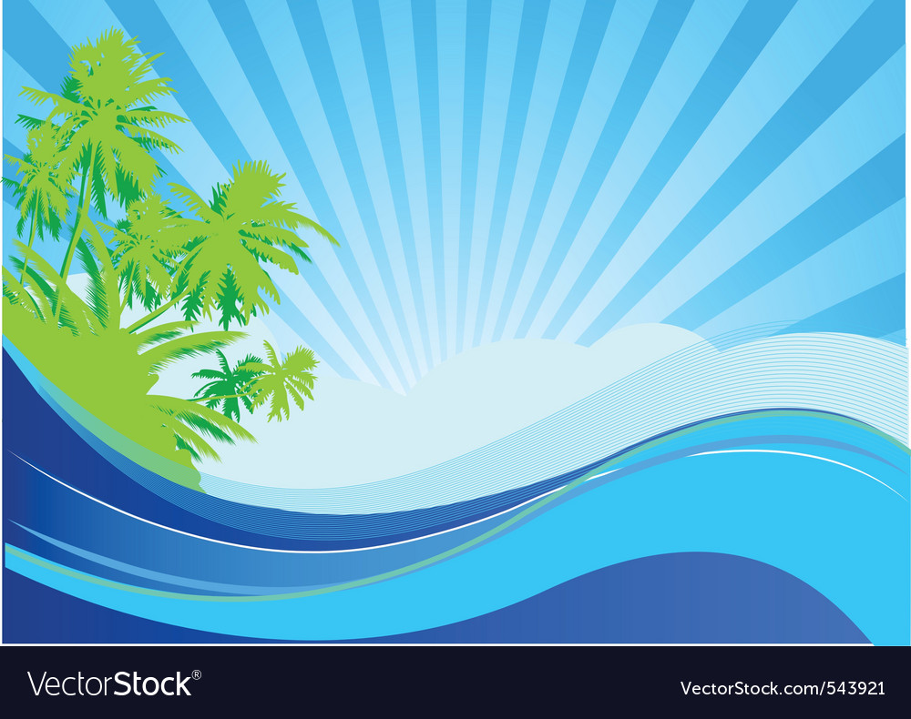 summer themed background royalty free vector image