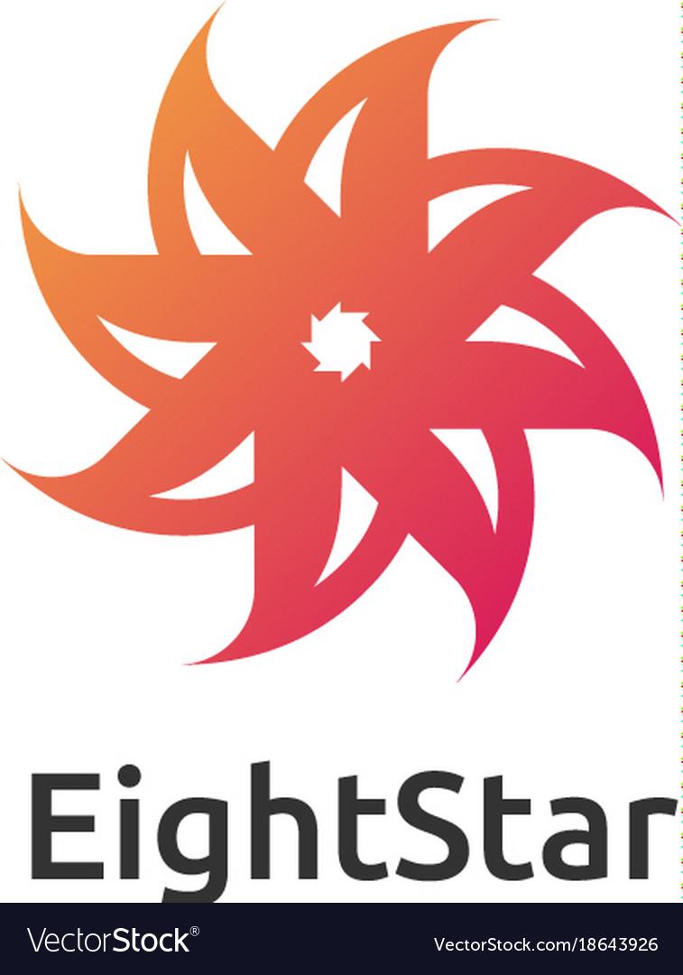 Abstract circle star logo design concept