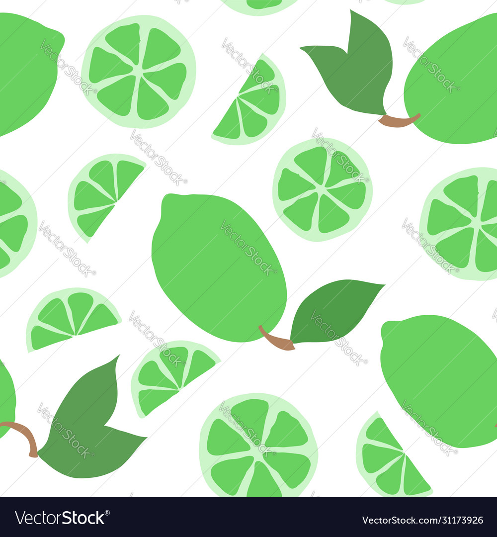 Beautiful seamless doodle pattern with cute green