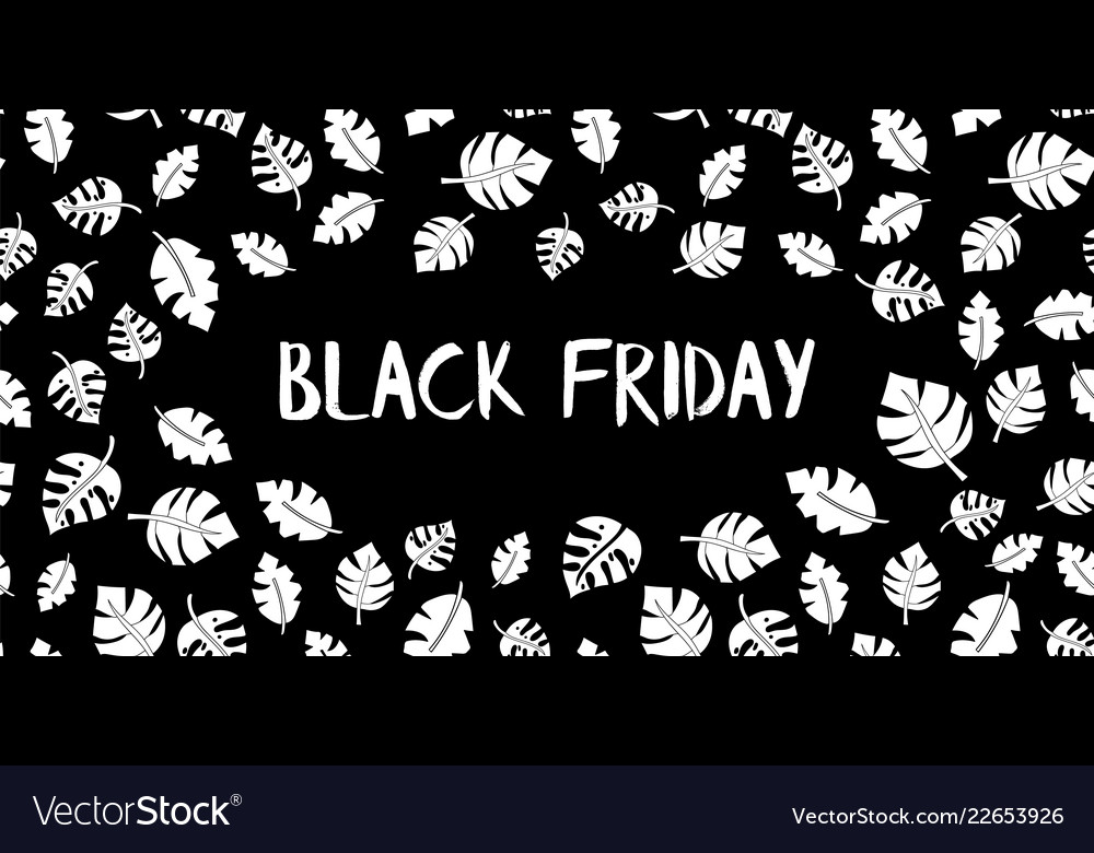 Black friday sale text hand drawn white