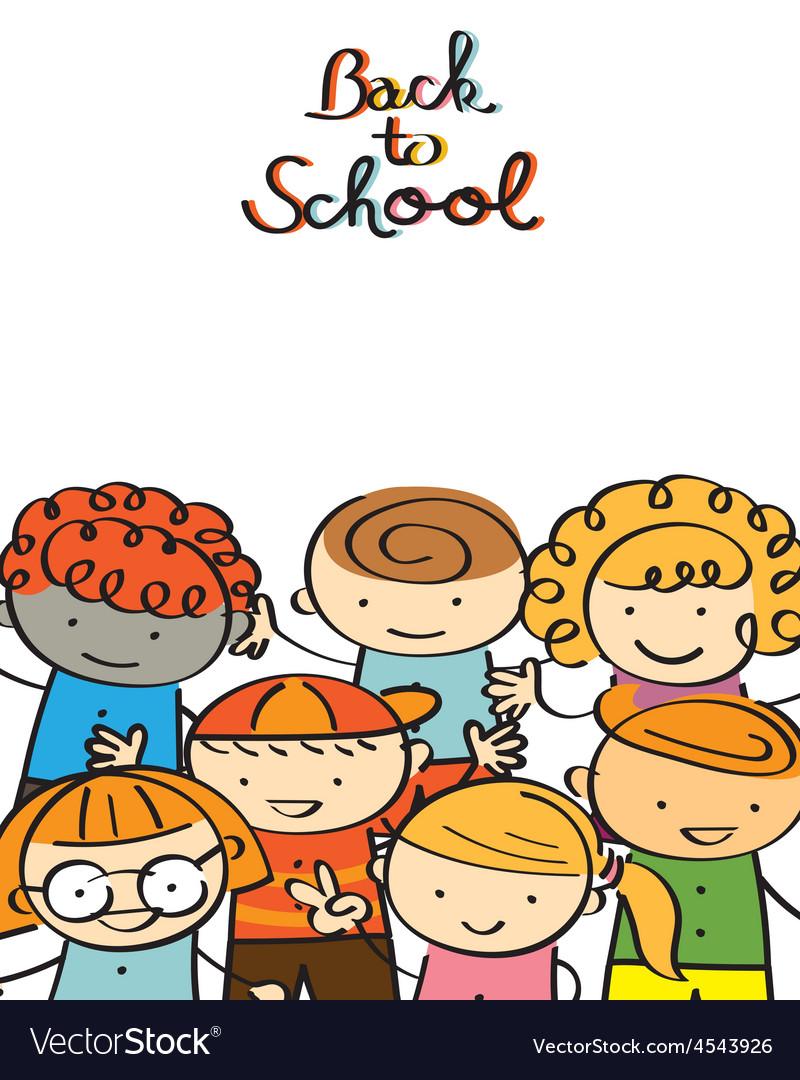 Kindergarten Kids Back to School Background