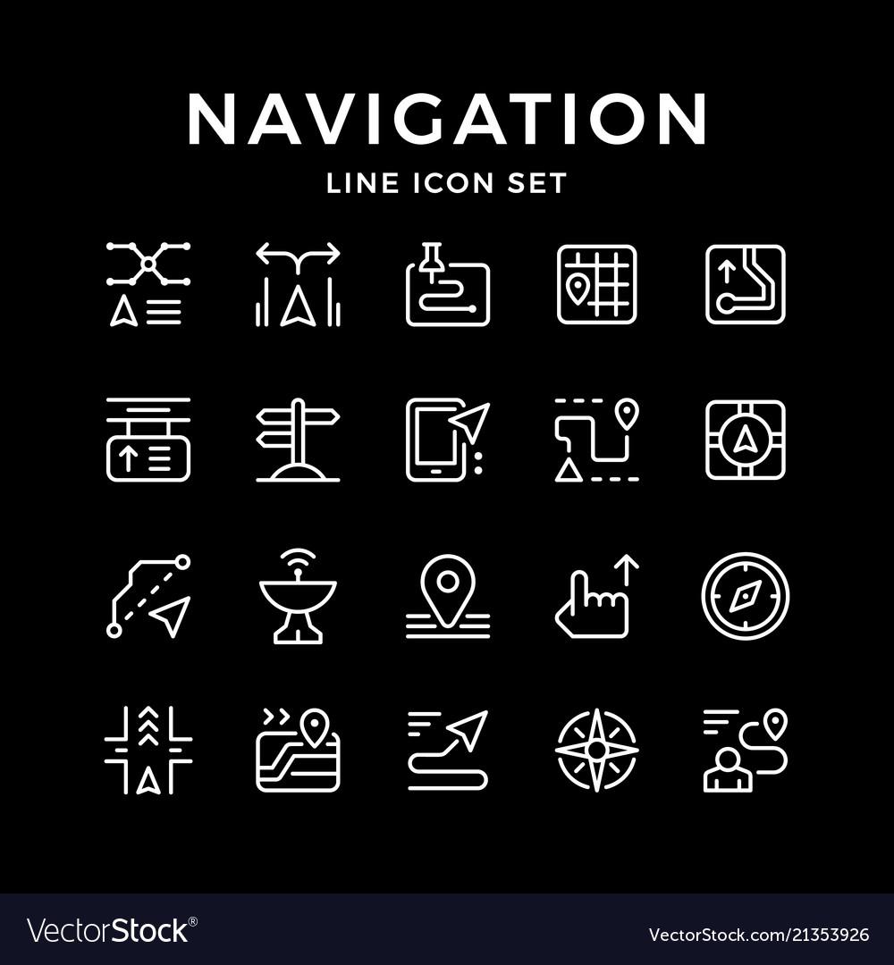 Set line icons navigation