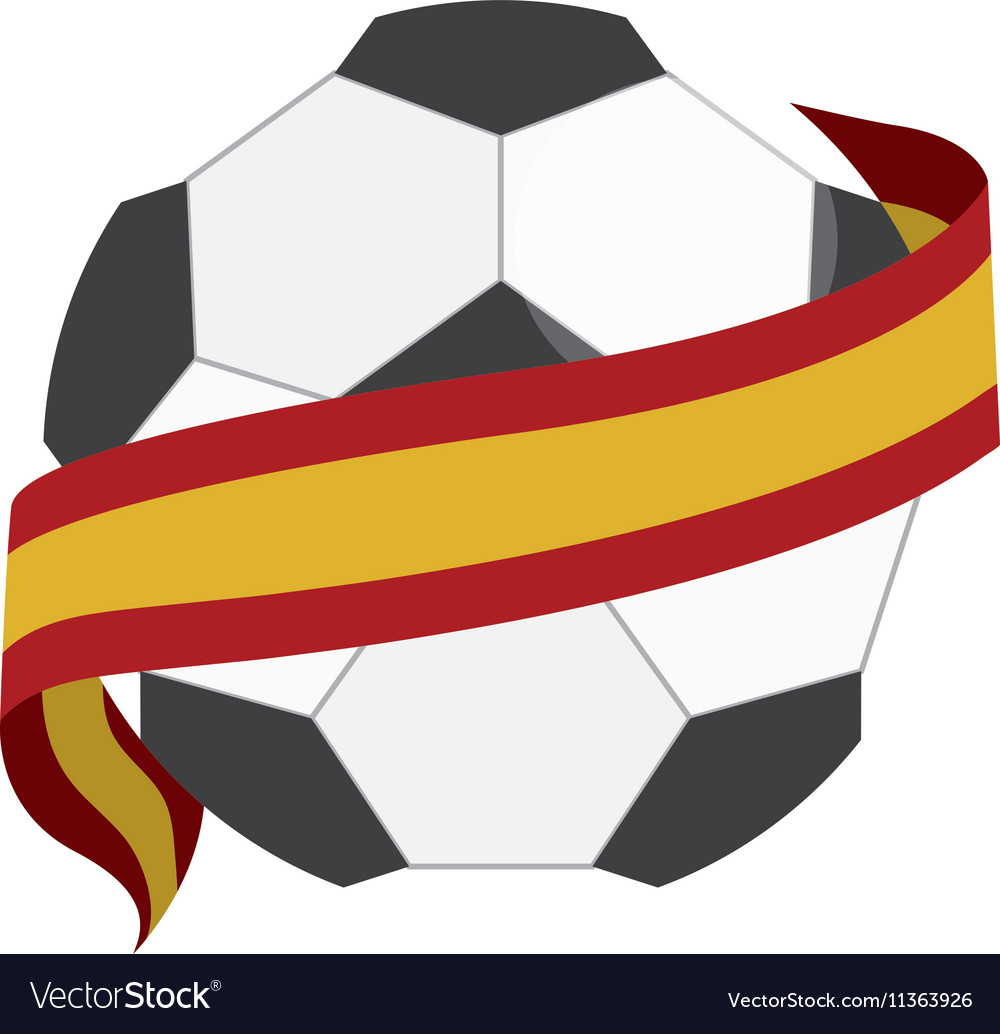 Soccer ball with spain flag