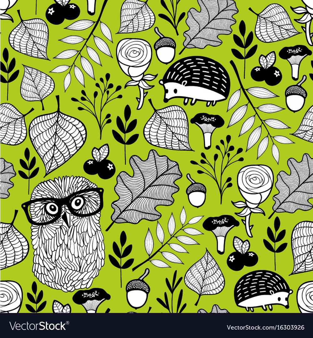 Summer time seamless pattern with wild birds and vector image