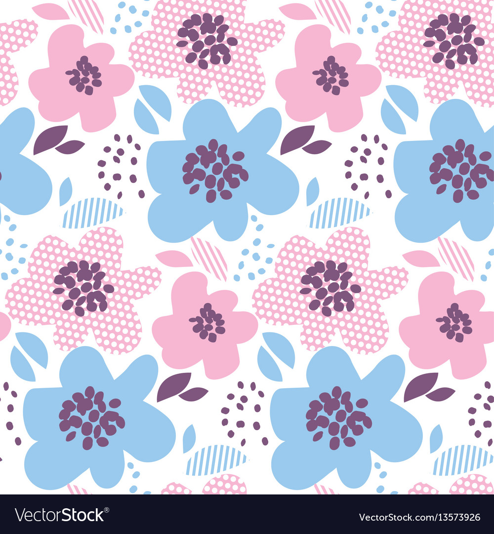 Tender color abstract floral seamless pattern in vector image