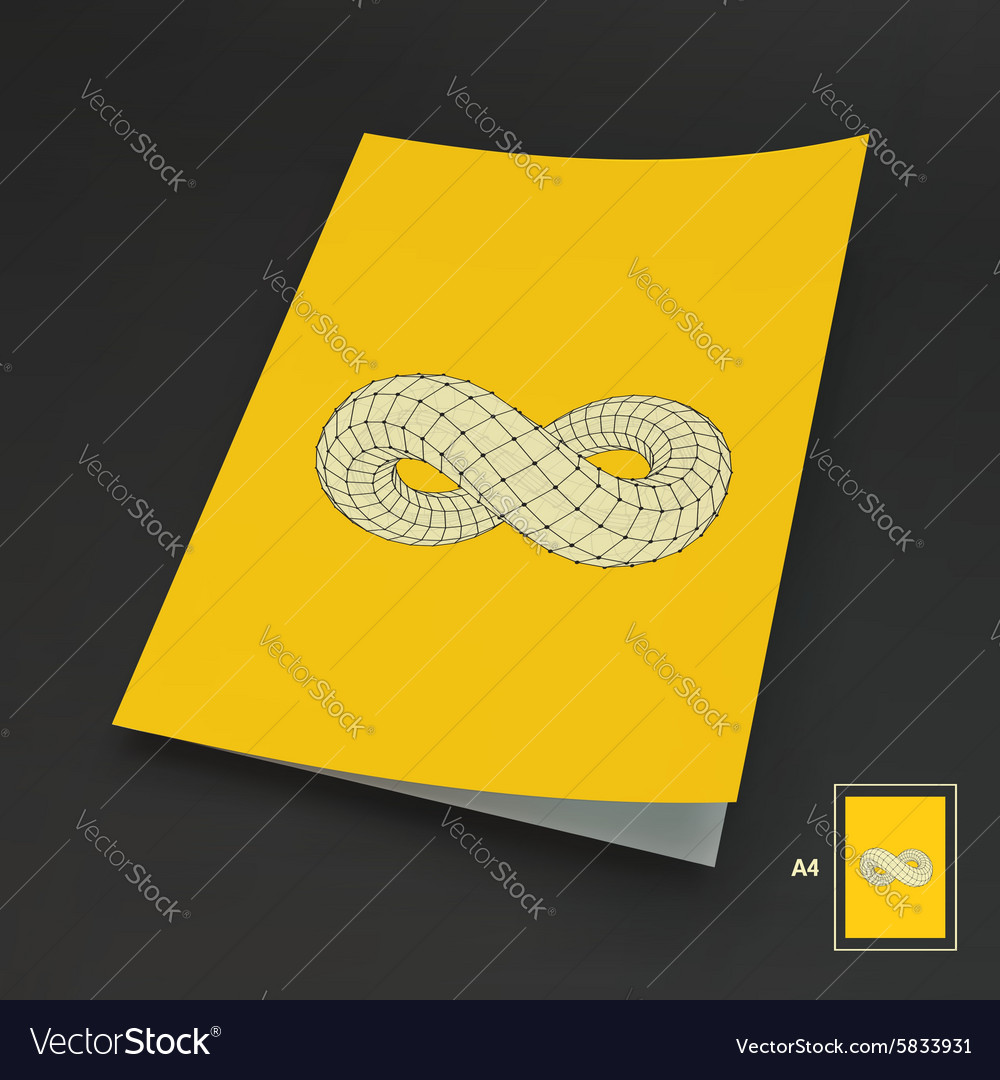 A4 Business Blank Infinity Symbol