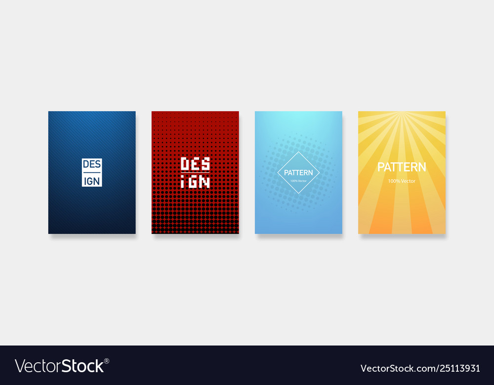 Dynamic colorful gradients minimal modern cover