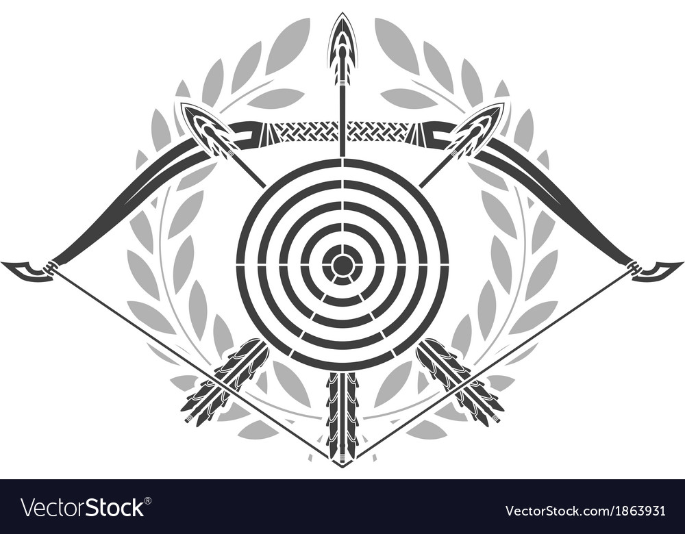 Glory of archery vector image