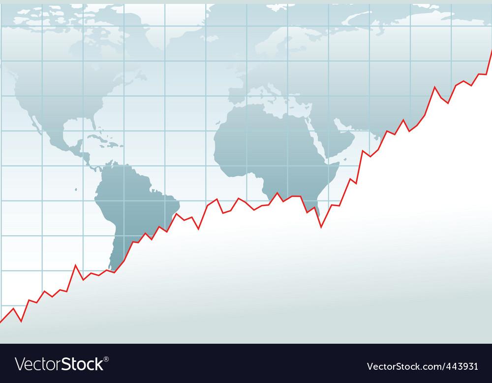 Growth Chart Royalty Free Vector Image Vectorstock