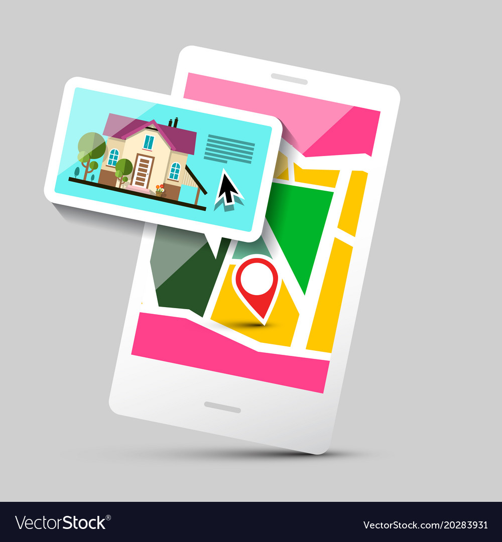 House icon on mobile phone application gps