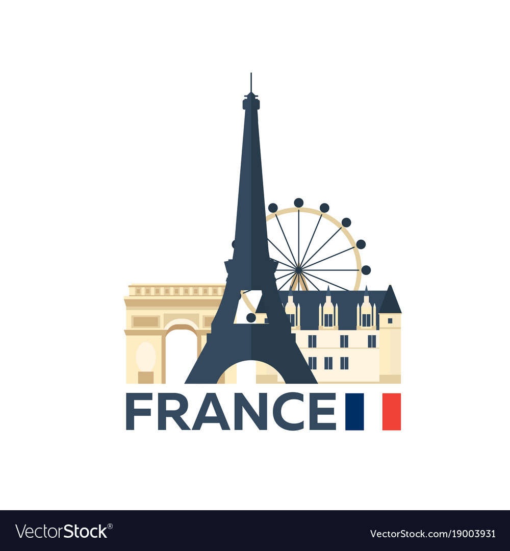 Travel to france paris skyline vector image