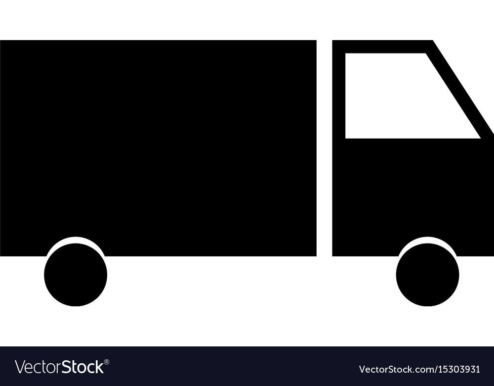 Truck the black color icon