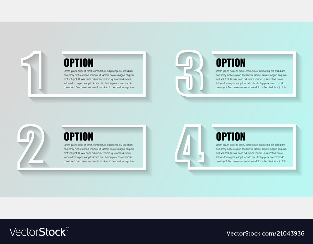 Business infographics timeline with 4 boxs steps