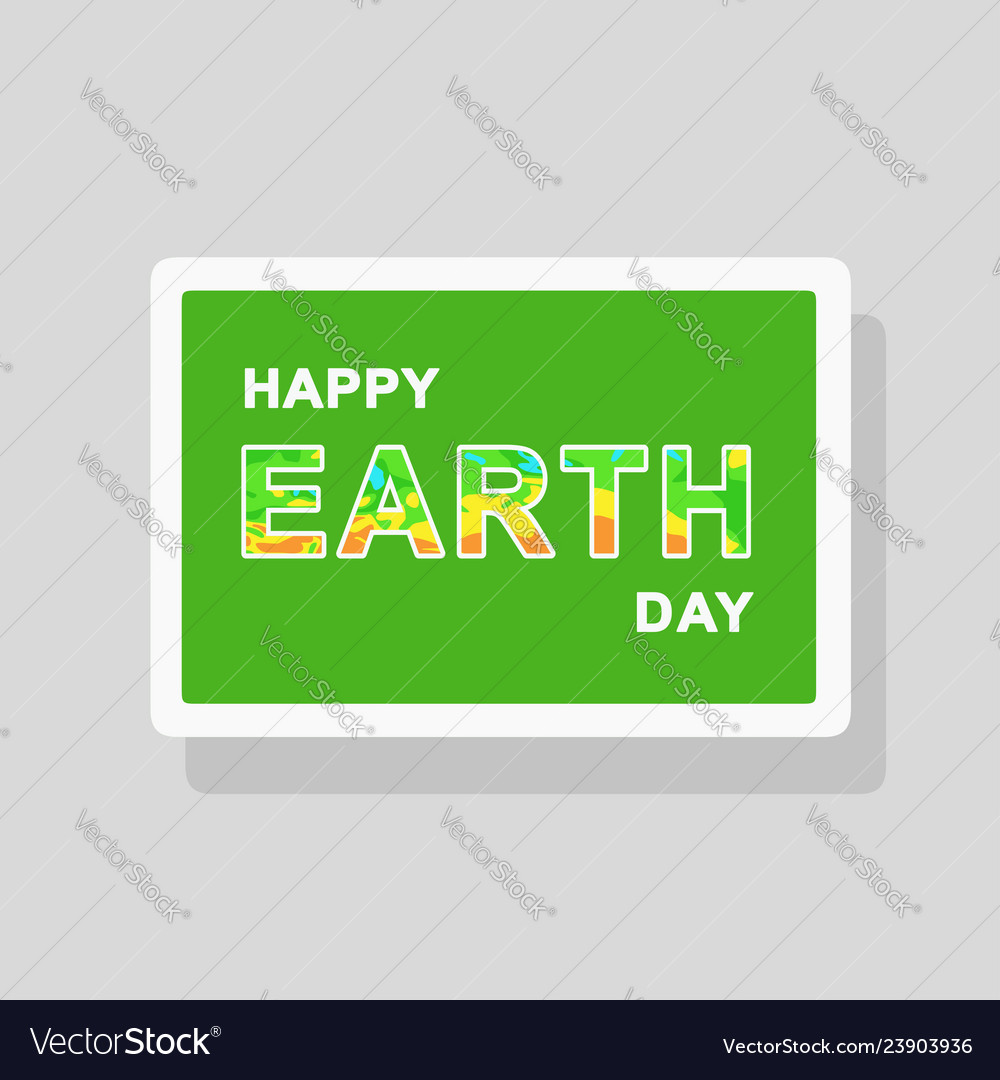Double exposure earth day greeting card