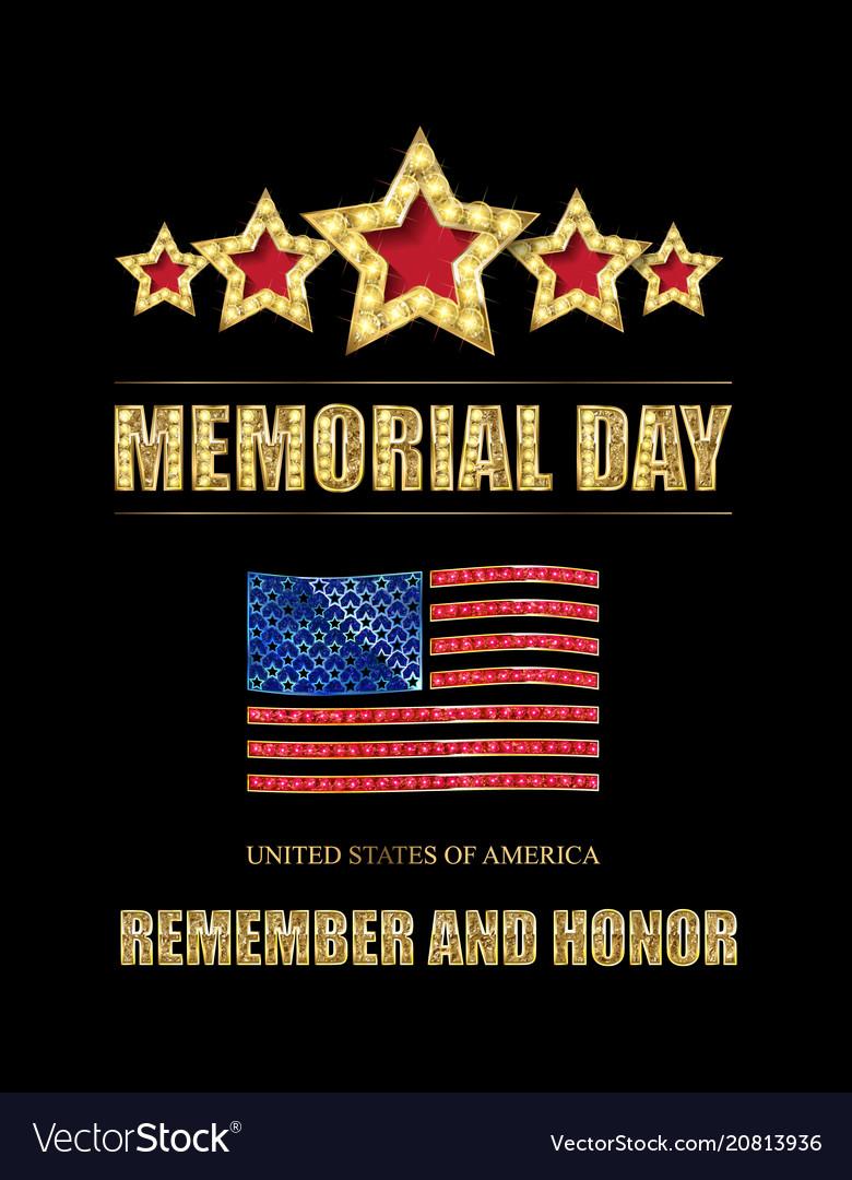 Memorial day background art vector image
