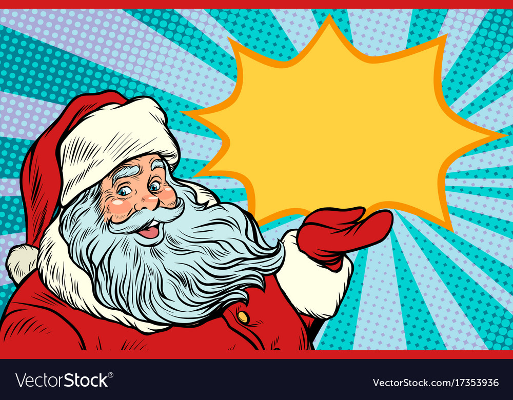 Santa claus promotinal copy space