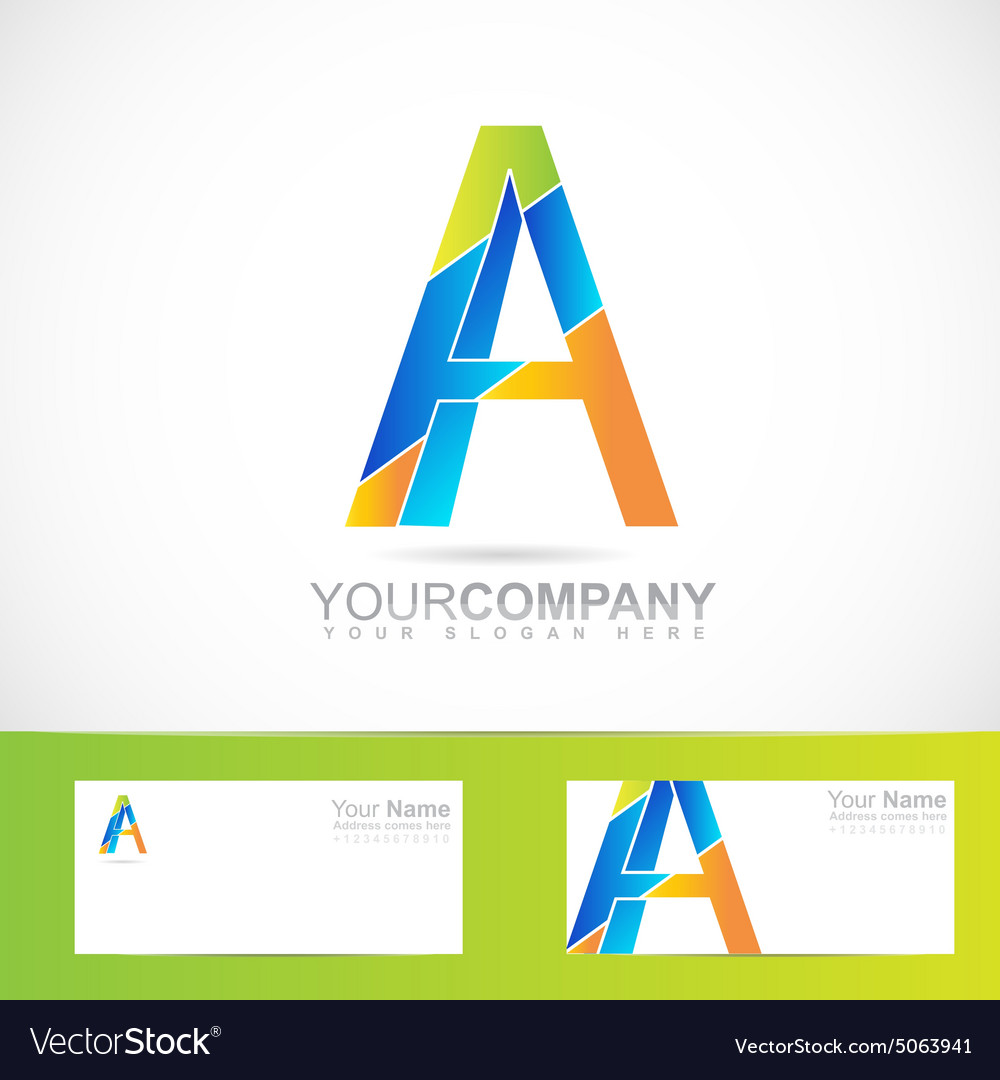 Alphabet letter A logo