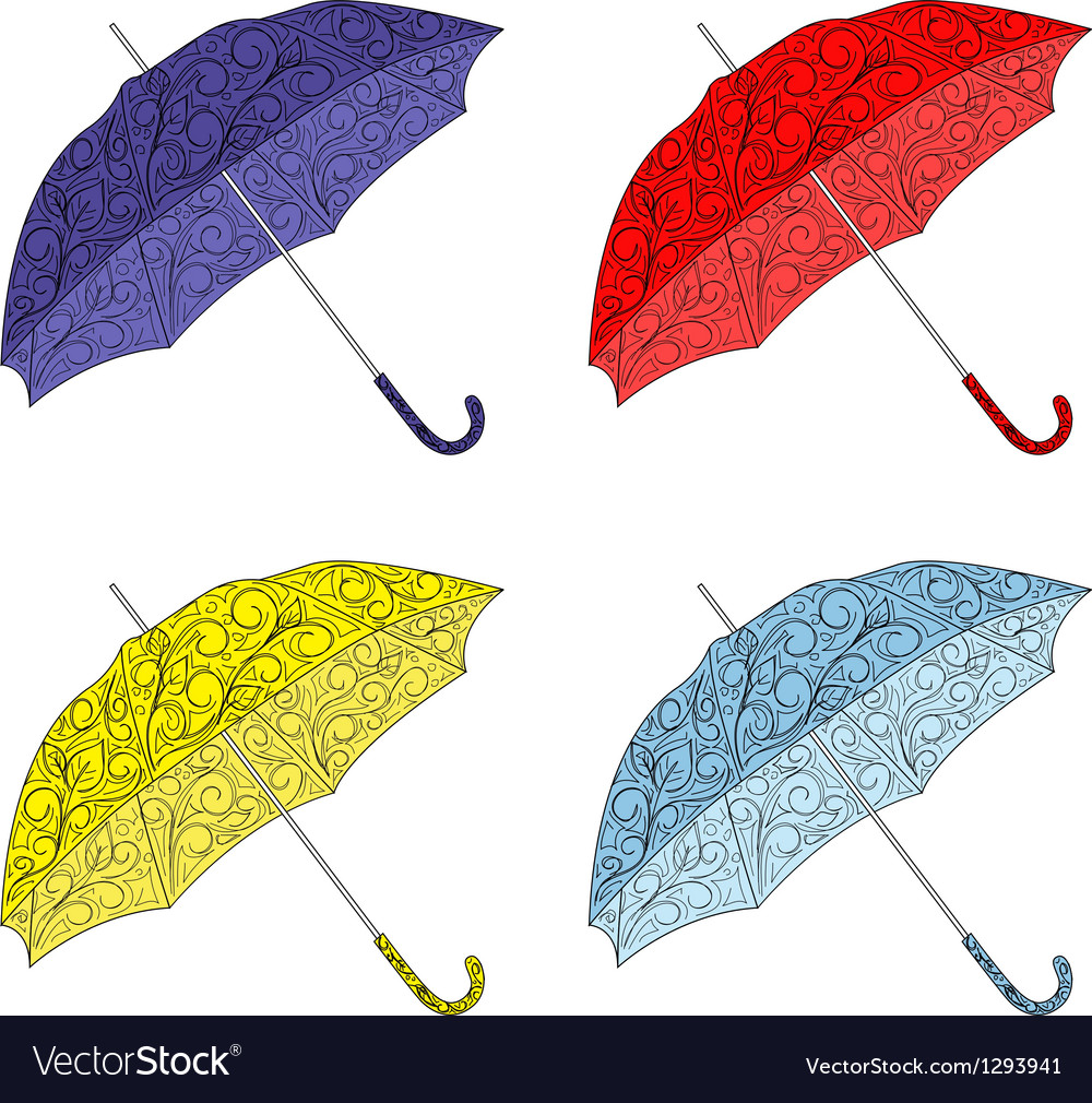 Colorful painted umbrellas