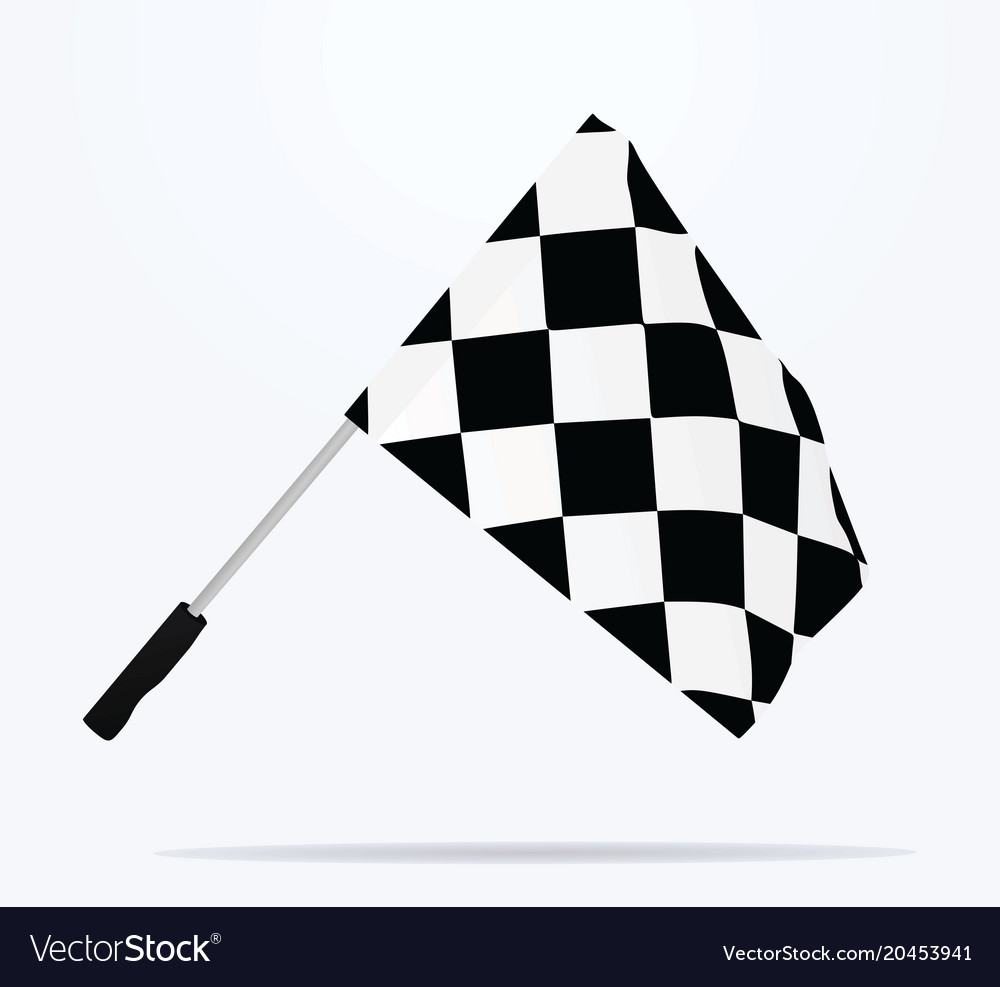 finish line flag royalty free vector image vectorstock