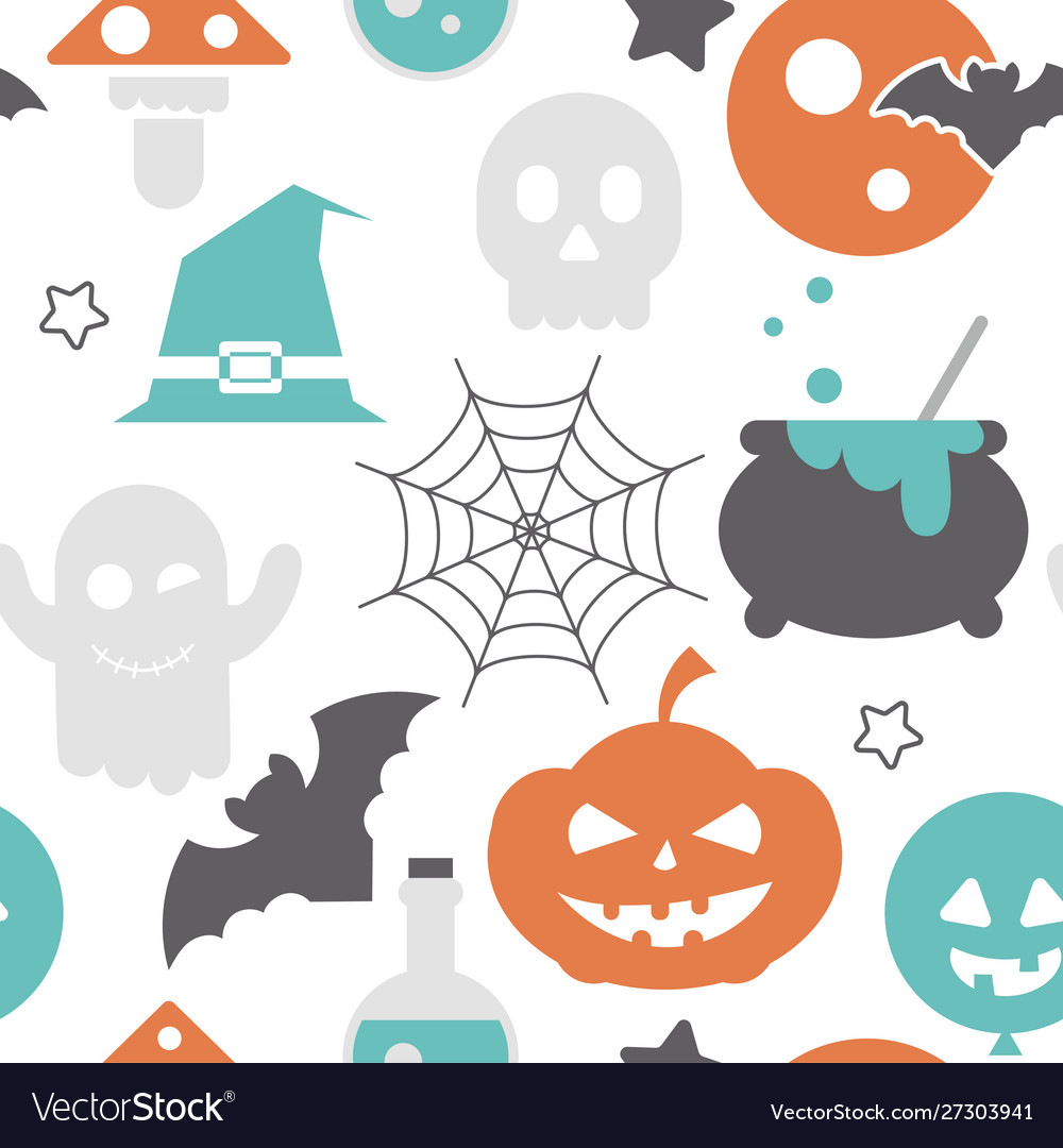 Halloween holiday seamless pattern