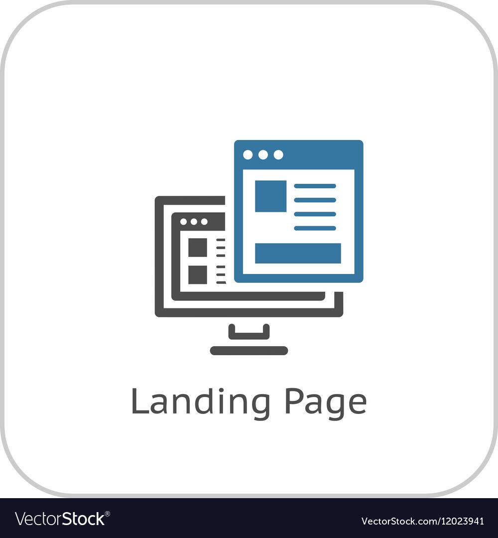 Landing Page Icon Flat Design