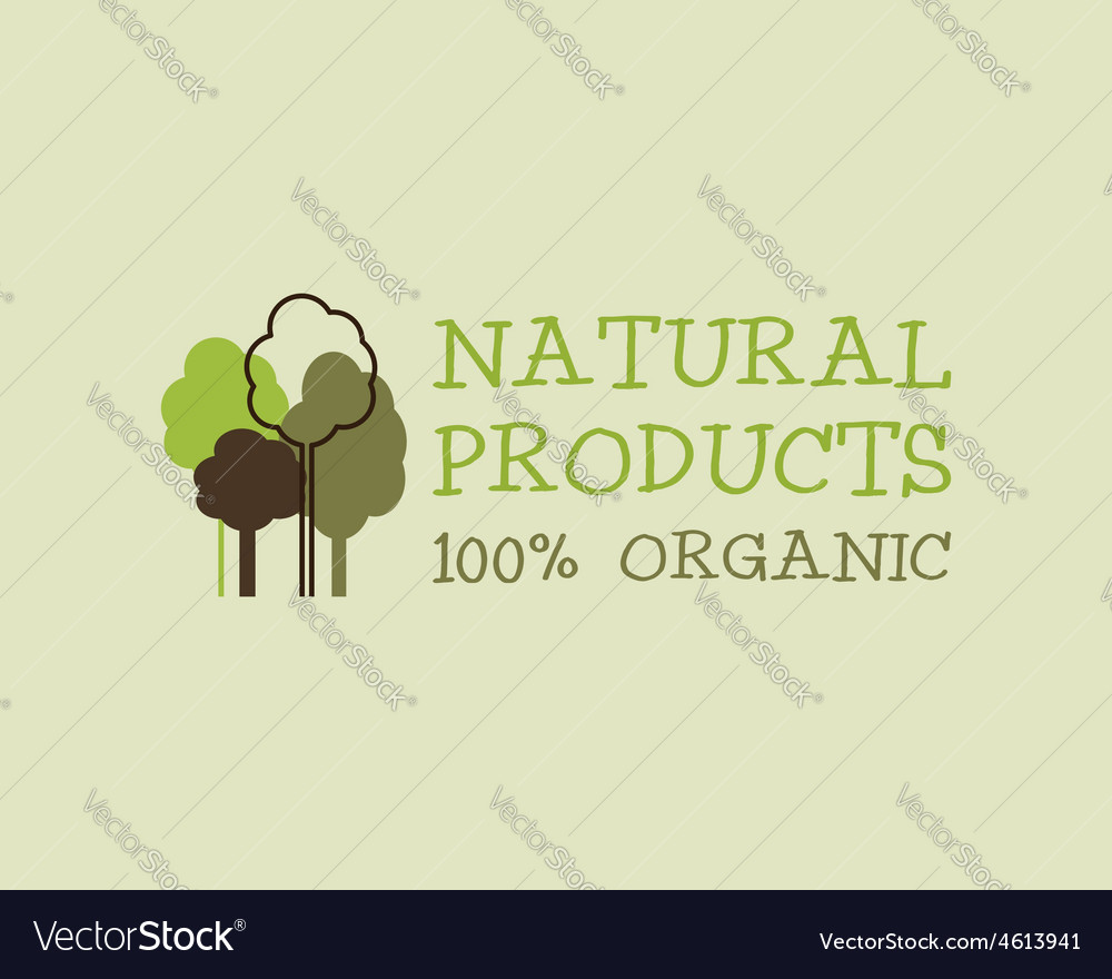 Organic eco green logo template Can be used as