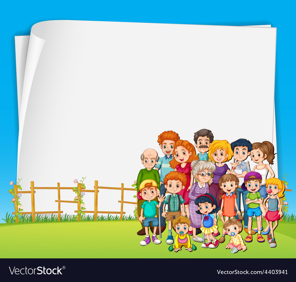 Sign and family vector image