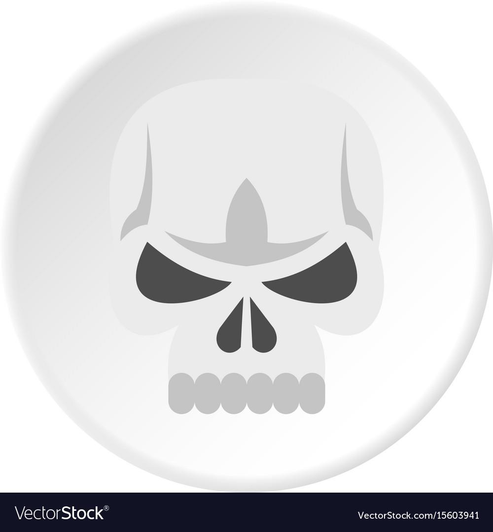 Skull icon circle
