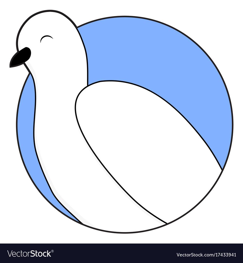 White dove sticker icon