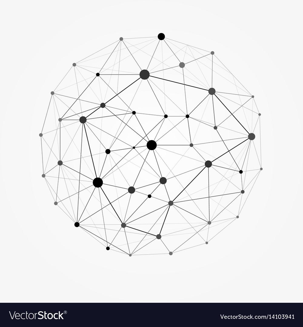 Polygon Wireframe Sphere Wire Center Regulator Rectifier Circuit Basiccircuit Diagram Seekic Mesh Polygonal Network Line Vector Image Rh Vectorstock Com Map