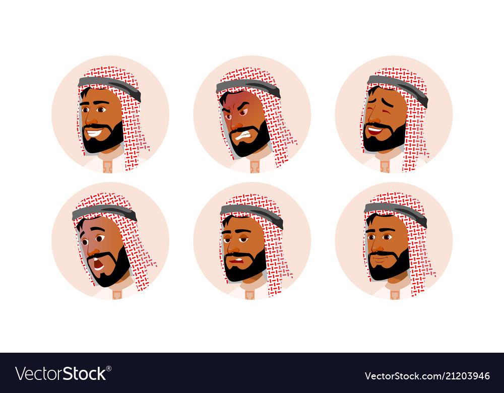 Arab avatar icon man saudi emirates