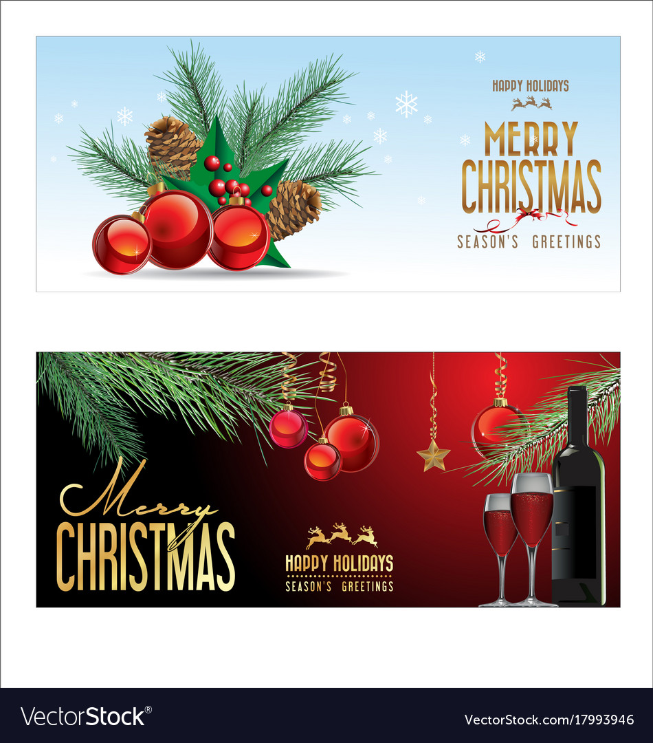 Christmas background red balls with decorations 3