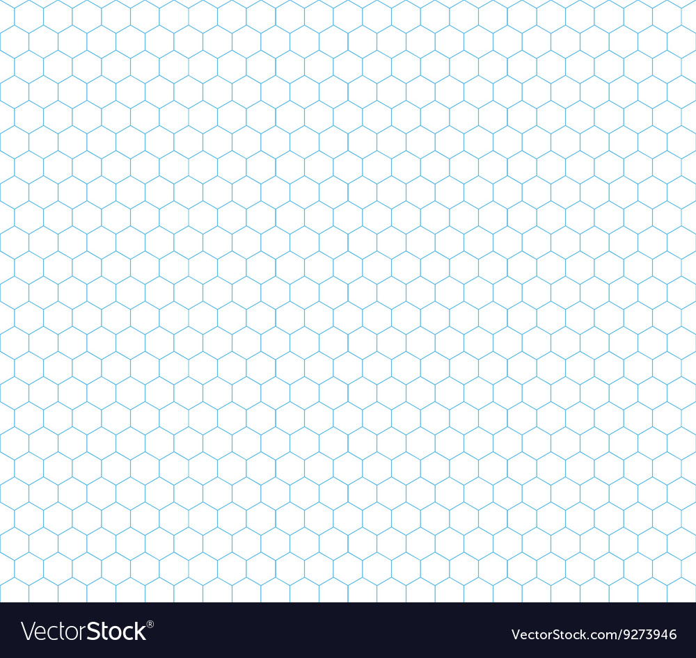 Cyan hexagon grid seamless pattern vector image